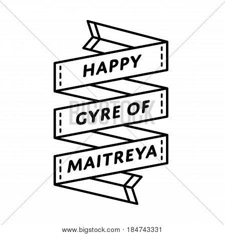 Happy Gyre of Maitreya Day emblem isolated vector illustration on white background. 5 july world buddhistic holiday event label, greeting card decoration graphic element