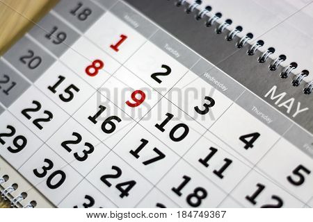 Close-up Calendar. Concept Planning, Count The Days, Time Management