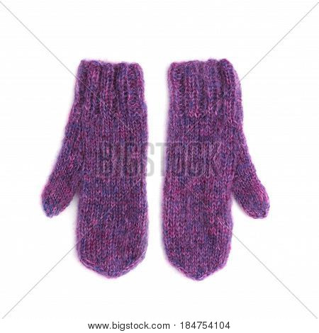 Pair Of Pink Mohair Gloves