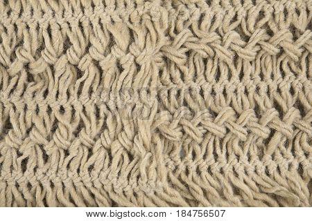 Beige Woolen Fabric