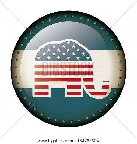 Elephant icon. Vote president election government  and campaign theme. Isolated design. Vector illustration