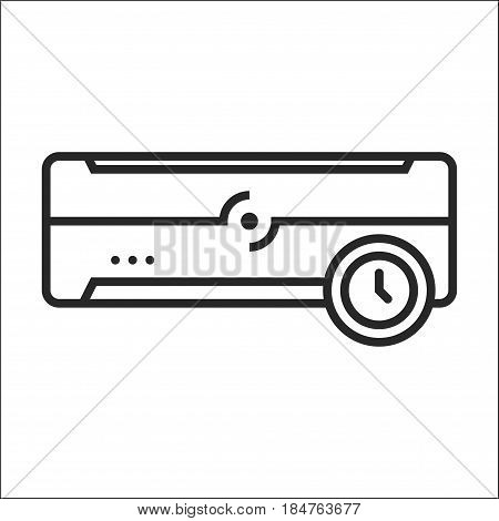 Air Conditioner Time Mode Vector Icon