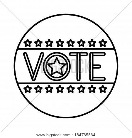 Seal stamp icon. Vote president election government  and campaign theme. Isolated design. Vector illustration