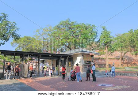 TAINAN TAIWAN - DECEMBER 12, 2016: Unidentified people visit Anping old fort. Anping old fort was a fortress built over ten years from 1624 to 1634 by the Dutch East India Company.