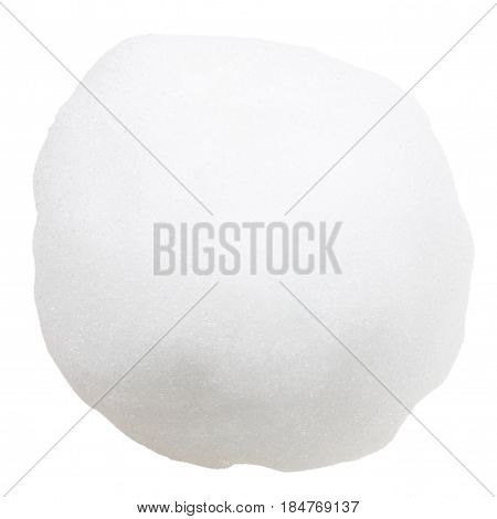 Snowball or hailstone isolated on a white background