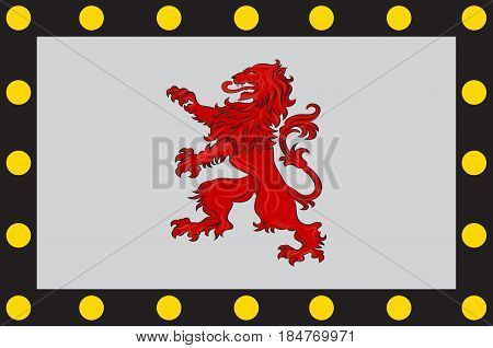 Flag of Chatellerault is a commune in the Vienne department in the Nouvelle-Aquitaine region in France. Vector illustration