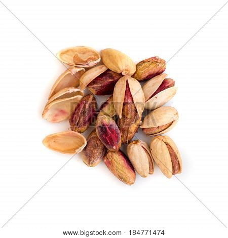 Heap Of Inshell Pistachios And Peeled Pistachios
