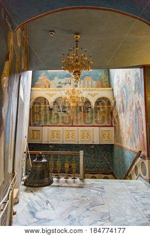 Interior Of The Holy Trinity Saint-sergius Lavra