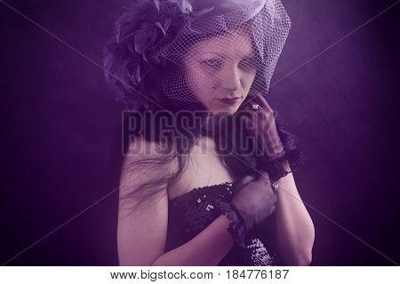 Fashionable Sad Woman