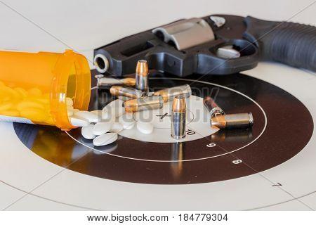Ammunition on a target