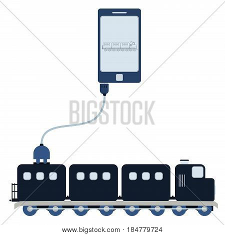 Train Automation Using Cell Phone