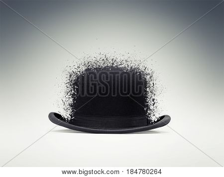 Black Bowler Hat Shattered