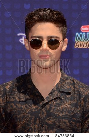 LOS ANGELES - APR 29:  Max Ehrich at the 2017 Radio Disney Music Awards at the Microsoft Theater on April 29, 2017 in Los Angeles, CA