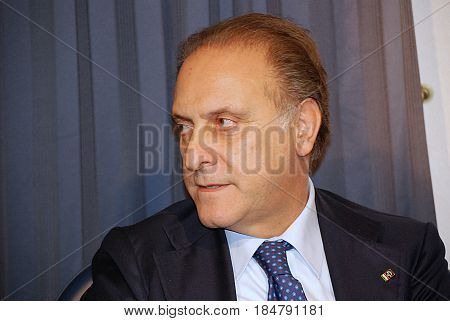 Salerno Italy - March 23 2012 : Lorenzo Cesa at SalernoCampania South Italy.