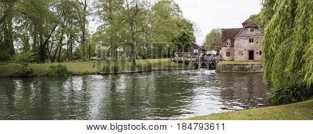 SWINDON UK - MAY 1 2017: River Thames at Mapledurham Lock near Reading Berkshire