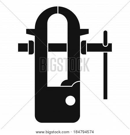 Blacksmiths vice icon in simple style isolated vector illustration