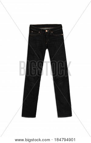 Womens Jeans Pants isolated on white background