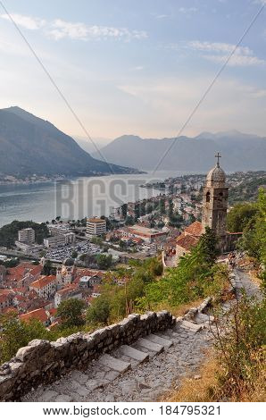 View of Kotor Bay in Monte Negro