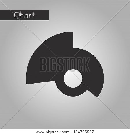 black and white style icon Circular economic chart