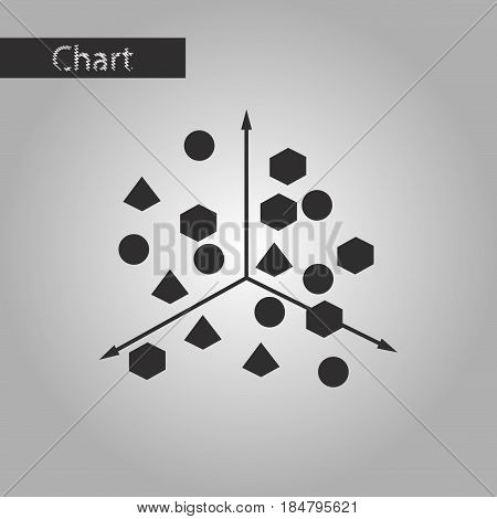 black and white style icon Chart with geometric figures