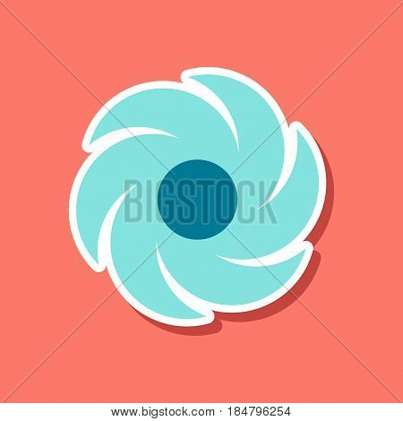 paper sticker on stylish background nature weather vane