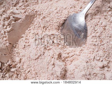 Mixer Mixes The Ingredients Of Chocolate Chip Cookies