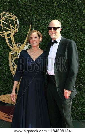 PASADENA - APR 28: Gaye Tolan Hatfield, Brad Hatfield at the 44th Daytime Creative Arts Emmy Awards Gala at the Pasadena Civic Centerl on April 28, 2017 in Pasadena, California