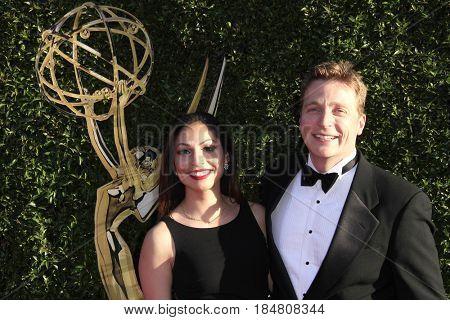 PASADENA - APR 28: Daisy Melgar, Eric Handler at the 44th Daytime Creative Arts Emmy Awards Gala at the Pasadena Civic Centerl on April 28, 2017 in Pasadena, California