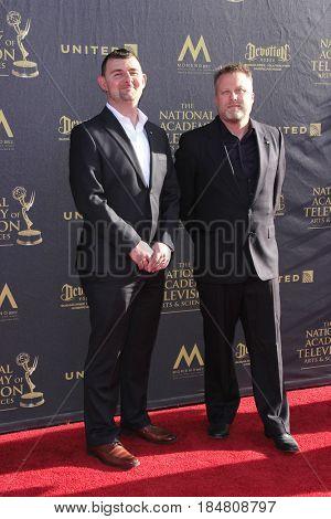 PASADENA - APR 28: Matt Crookshank, Nial McFayden at the 44th Daytime Creative Arts Emmy Awards Gala at the Pasadena Civic Center on April 28, 2017 in Pasadena, California