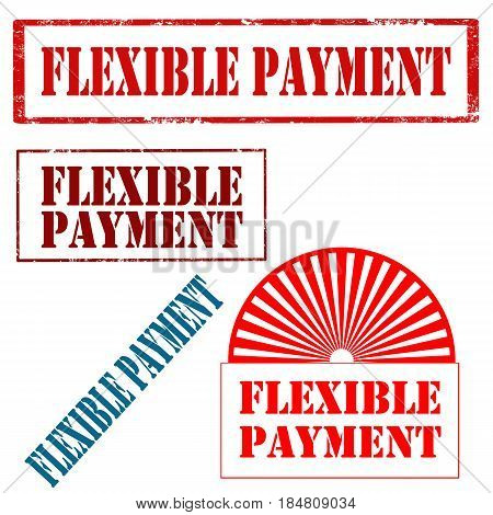 Set of stamp with text Flexible Payment,vector illustration