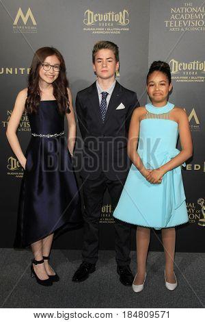 PASADENA - APR 28: Anna Cathcart, Isaac Kragten, Millie Davis at the 44th Daytime Creative Arts Emmy Awards Gala at the Pasadena Civic Center on April 28, 2017 in Pasadena, CA