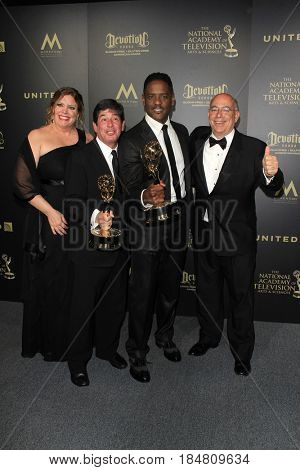 PASADENA - APR 28: Outstanding Childrenâ??s or Family Viewing Series, Give at the 44th Daytime Creative Arts Emmy Awards Gala at the Pasadena Civic Center on April 28, 2017 in Pasadena, CA