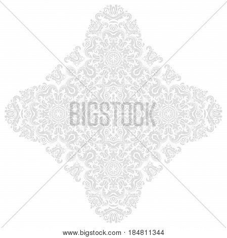 Oriental vector pattern with arabesques and floral elements. Traditional classic ornament. Vintage pattern with arabesques