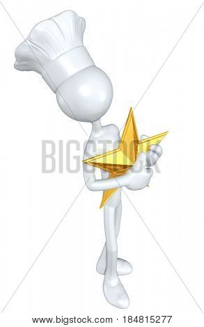 Chef With A Star The Original 3D Character Illustration