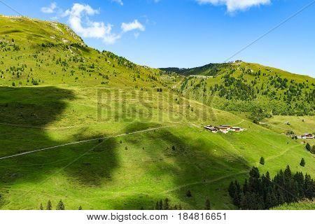 High mountains view on the alpine High Road in Zillertal Valley Austria Tirol Zillertaler Hoehenstrasse
