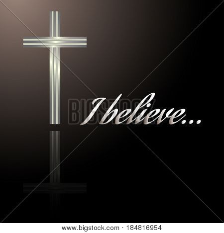 Christianity cross religion concept design background. Vector illustration.
