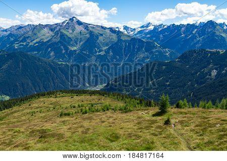 Summer Alps view from Zillertal High Alpine Road Austria Tirol