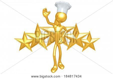 Chef With Stars The Original 3D Character Illustration