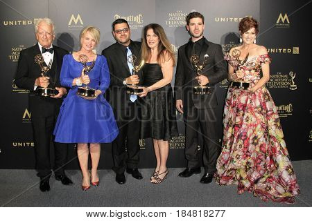 PASADENA - APR 28: Winners at The 44th Daytime Creative Arts Emmy Awards Gala at the Pasadena Civic Center on April 28, 2017 in Pasadena, California