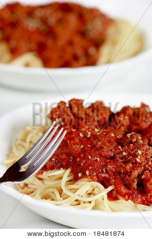 pasta meal closeup