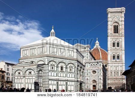 beautiful renaissance cathedral Santa Maria del Fiore in Florence, Italy