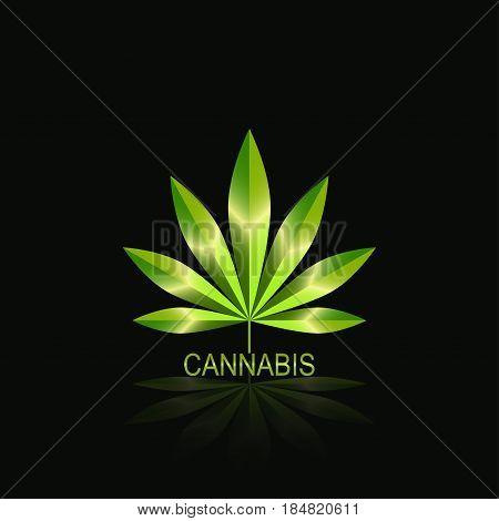 Cannabis leaf icon . Cannabis Marijuana Leaf. Authorized medical cannabis rubber stamp