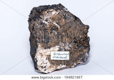 Brauner Glaskopf Black Gemstone Gem Jewel Mineral Precious Stone Caption