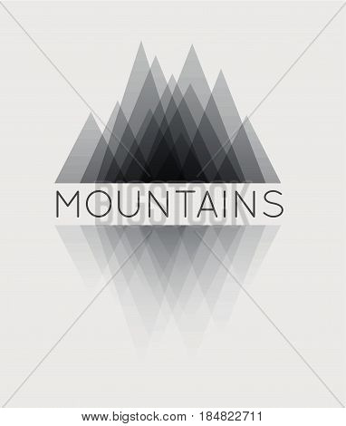 Vector abstract mountain. Vector logotype for your business