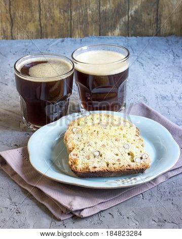 Homemade Biscotti With Nuts