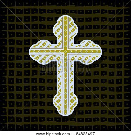 Illustration cross as a religious symbol as a background.