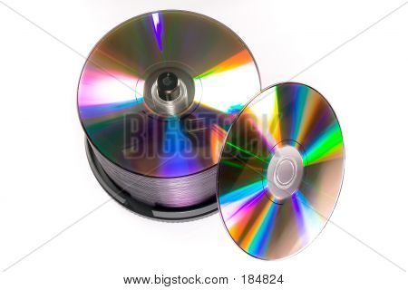 Stack Of Generic Dvd Recordables