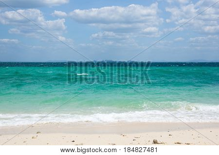 White sand beach of Andaman sea Krabi province Thailand