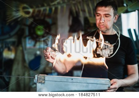 Glass-blowing Workshop. Burner