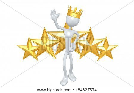 King With Stars The Original 3D Character Illustration